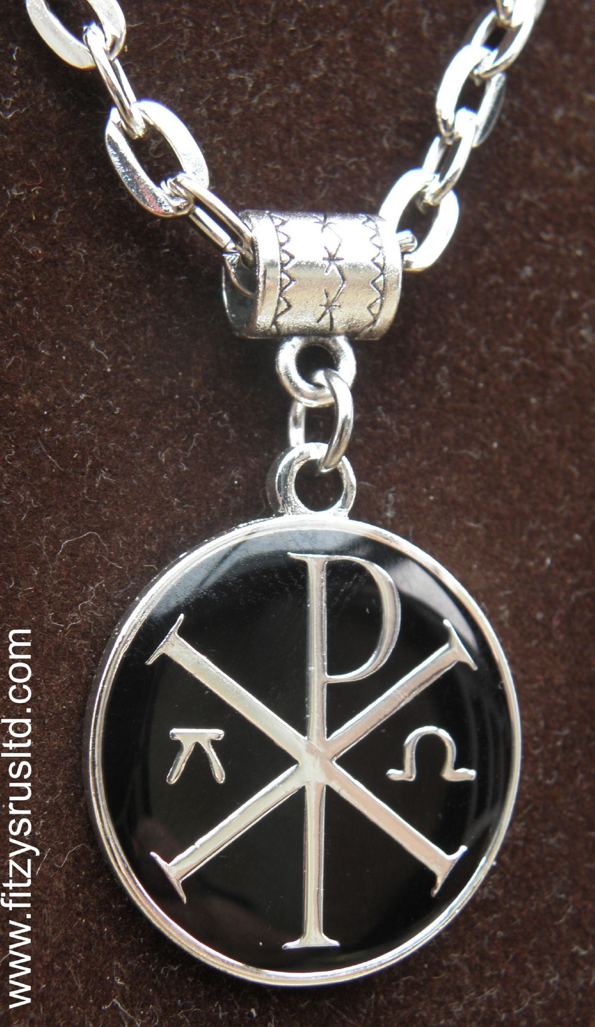20 or 24 inch necklace chi rho alpha omega charm chi rho 20 or 24 inch necklace chi rho alpha omega charm chi rho mozeypictures Gallery